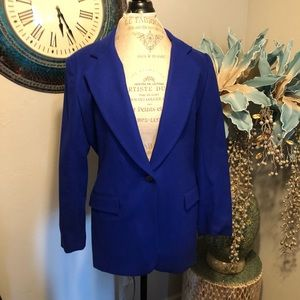 Gorgeous Worthington cobalt blue Wool blazer